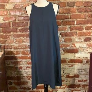 Everlane dark green sleeveless dress US14